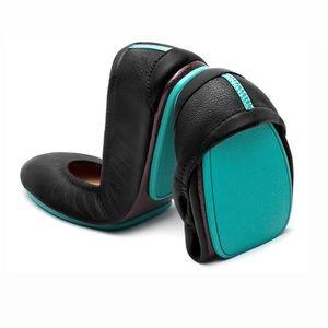 Tieks Matte Black Foldable Leather Ballet Flats 9